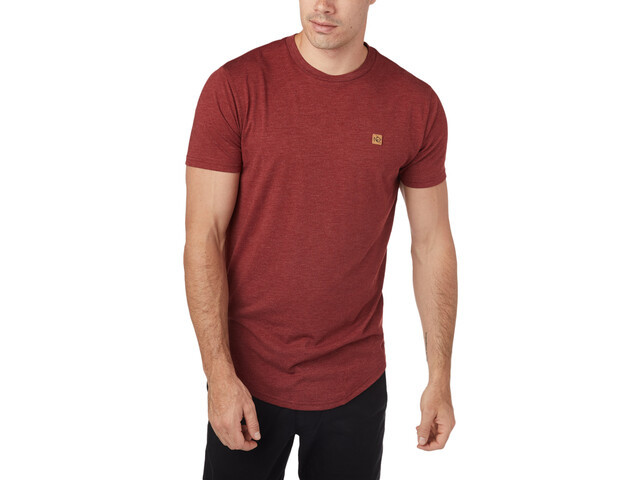 tentree Standard Camiseta Manga Corta Hombre, red maple heather